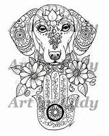 Coloring Pages Dachshund Greek Tattoo Hecate Goddess Satyr God Tattoos Pan Pantheon Tarot Mythology Urban Threads Male Witch Books sketch template