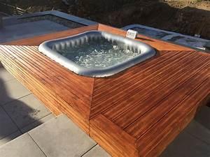 Jacuzzi En Bois : spa gonflable avec habillage bois spa en 2019 ~ Nature-et-papiers.com Idées de Décoration