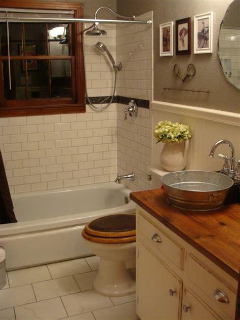1940's Bungalow Bathroom  Farmhousewestern Style