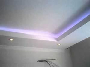 Decoration Faux Plafond : decoration faux plafond avec gorge lumineuse led spote alger algerie youtube ~ Melissatoandfro.com Idées de Décoration