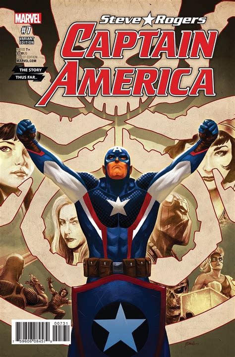 """First Look At Captain America Steve Rogers #7  """"hail Hydra"""""""