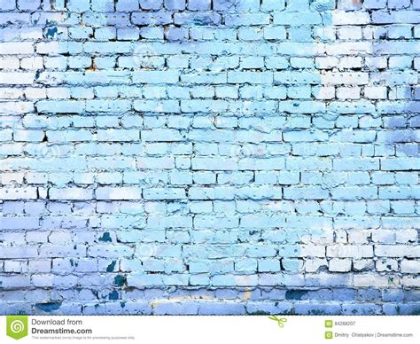 blue brick wall texture background for design stock