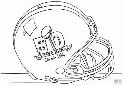 Coloring Bowl Super Pages Football Helmet Panthers