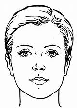 Face Coloring Makeup Woman Getcoloringpages sketch template