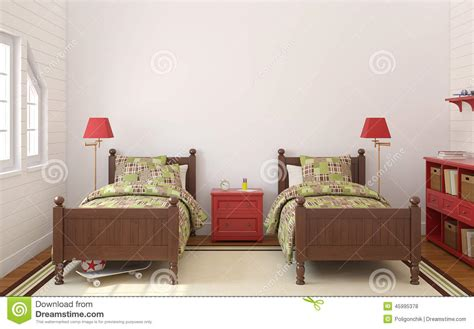 chambre deux enfants chambre à coucher pour deux enfants illustration stock