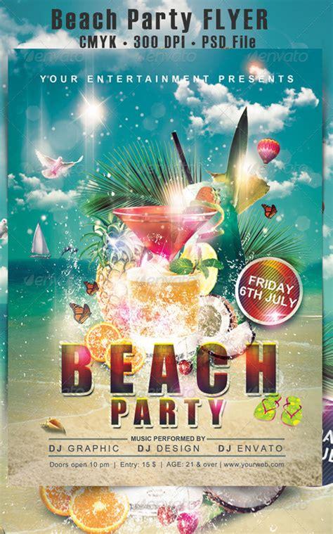 awesome beach flyer templates  psd ai