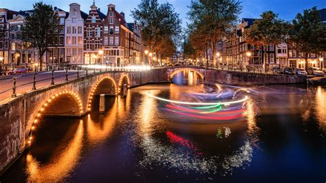 wallpaper amsterdam  night