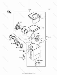Kawasaki Atv 1991 Oem Parts Diagram For Air Cleaner