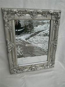 Großer Spiegel Silber : gro er wandspiegel spiegel barock stil bad flur antik silber holz 54x44x5cm ~ Whattoseeinmadrid.com Haus und Dekorationen