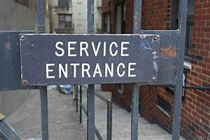 Service Entrance Stock Photo  Image Of Entrance  Servant