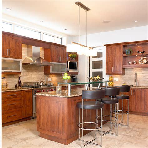 cuisine contemporaine avec ilot cuisines beauregard cuisine réalisation 148 cuisine