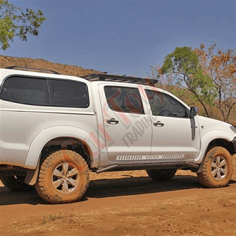toyota hilux vigo rock sliders double cab 2005 to 2015 fc040 cartoyz trading vehicle