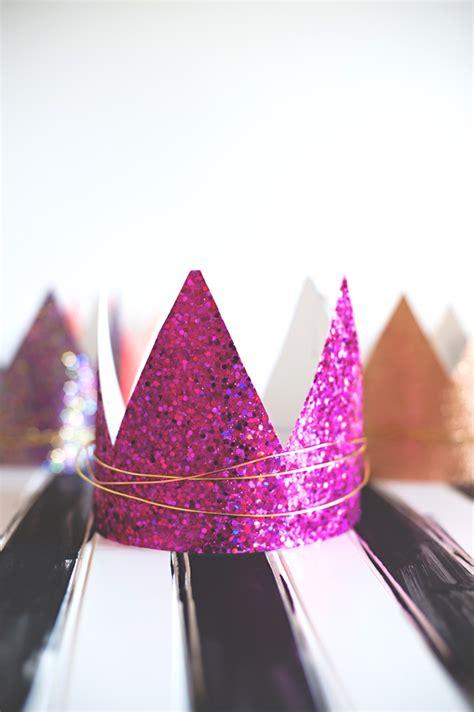 glitter twist birthday crowns  subtle revelry