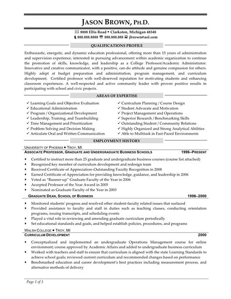 16346 resume for exles sle phd resume for industry sle phd resume for