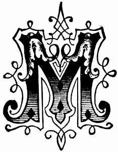 "initial ""M"", Ornamental letter | Different Letter Fonts ..."
