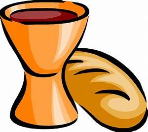 Clipart - bread and wine