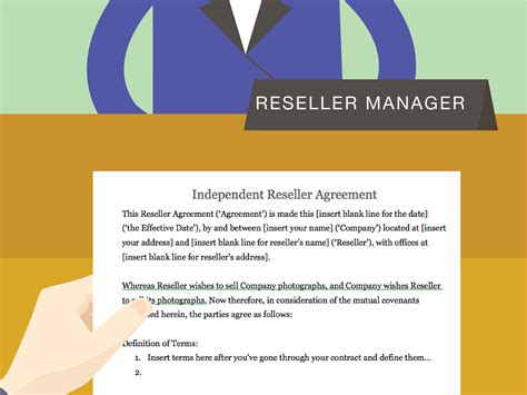 draft  reseller agreement  photographs
