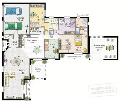 plan maison plain pied 3 chambres plan maison plain pied 3 chambres 140m2