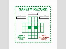 Safety Record Dry Erase Board Visual Workplace, Inc