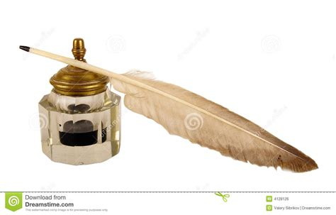The Ancient Ink Device. Royalty Free Stock Image