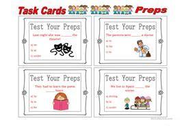 english esl prepositions worksheets  downloaded