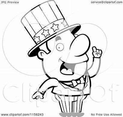 Uncle Sam Creative Cartoon Idea Drawing Clipart