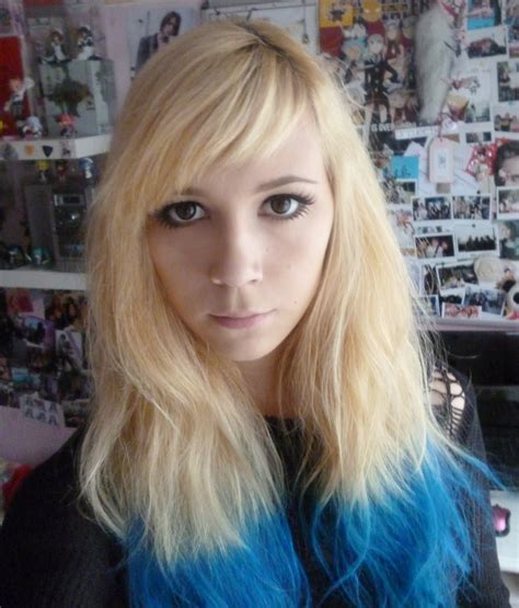 Welcome To The Madness~ Blue Dip Dye~