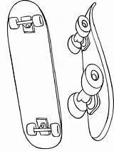 Skateboarding Mycoloring sketch template