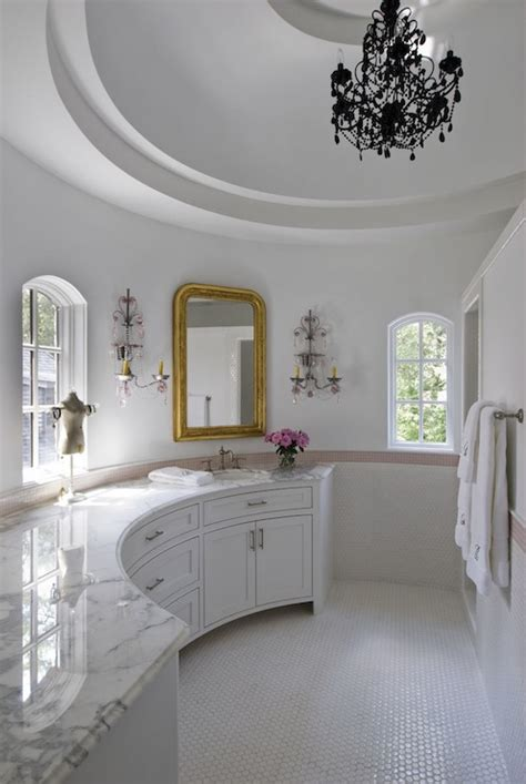 amazing girls bathroom  curved walls