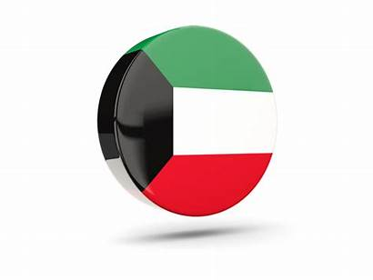 Kuwait Icon Round Glossy Flag Commercial Non