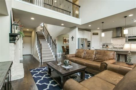 Living Room Concept by Open Concept Floor Two Story Living Room With A