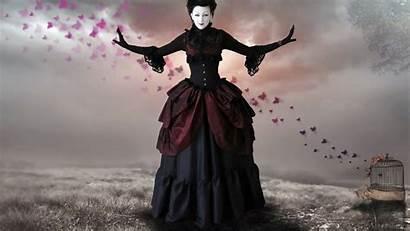 Gothic Woman Goth Romantic Steampunk Victorian Dark
