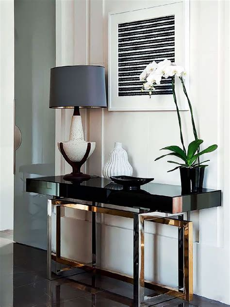 how to a console table how to decorate a living room with a modern console table