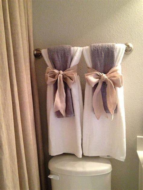 bathroom towel decorating ideas 15 diy pretty towel arrangements ideas