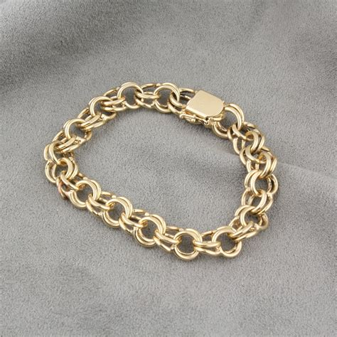 sterling silver wedding bands pre owned 14 karat yellow gold charm bracelet