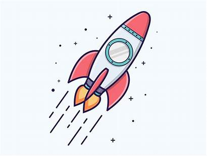 Rocket Dribbble Dribble Vectorified