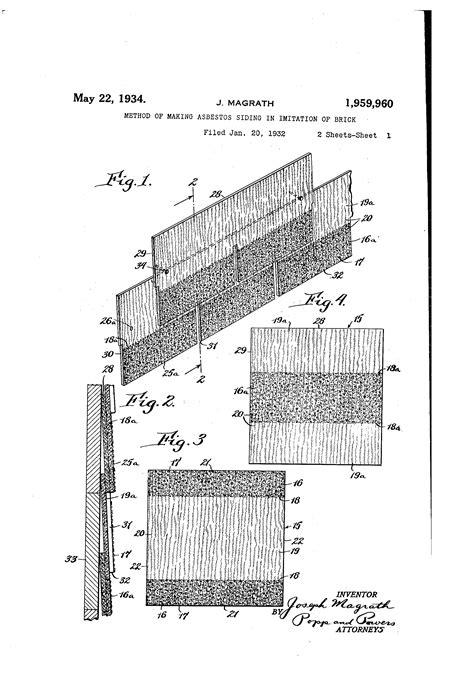 patent  method  making asbestos siding
