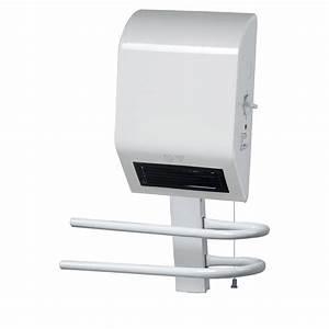 radiateur soufflant salle de bain fixe electrique triomph With puissance radiateur salle de bain