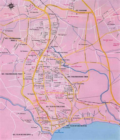 bandar lampung map  bandar lampung satellite image