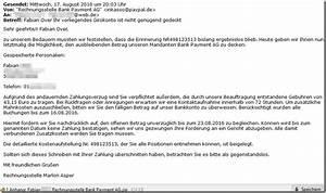 Rechnung Directpay : offene rechnung per mail konto nicht gen gend gedeckt ~ Themetempest.com Abrechnung