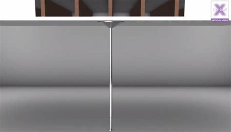 barre de pole sans fixation plafond installer une barre de pole sous un faux plafond by