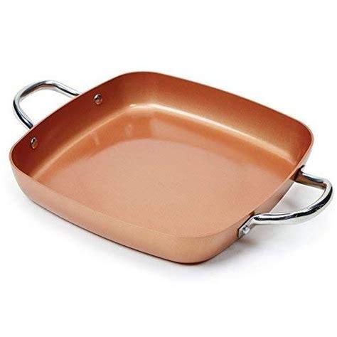 copper chef  piece square casserole cookware set
