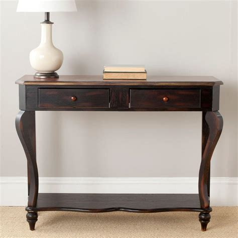 safavieh console safavieh tiger brown storage console table