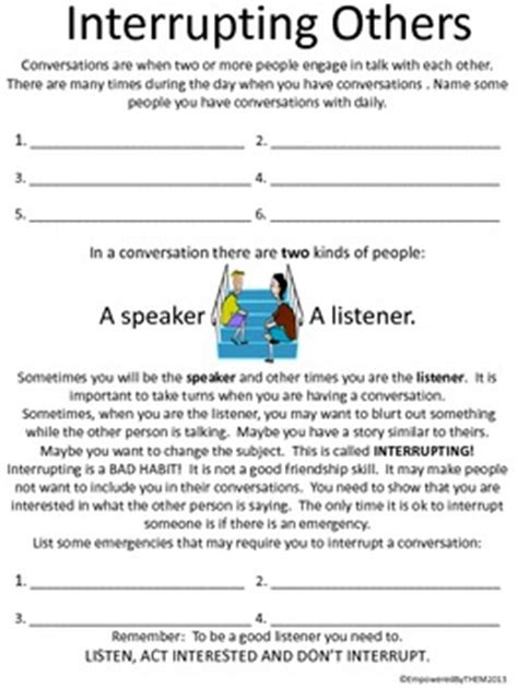 Friends Social Skills Worksheets By Empowered By Them Tpt