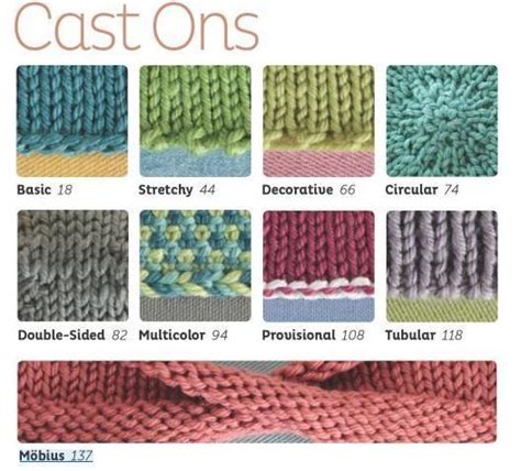 cast on knitting different cast on techniques photos only no instruction knitting cast ons pinterest