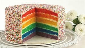 Regenbogentorte Rainbow cake von Evas Backparty