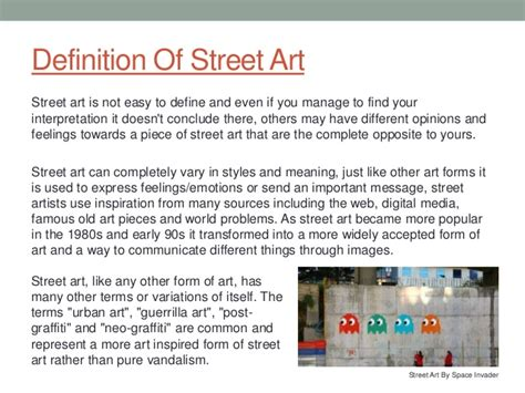 It is the thesis statement. Street Art Essay