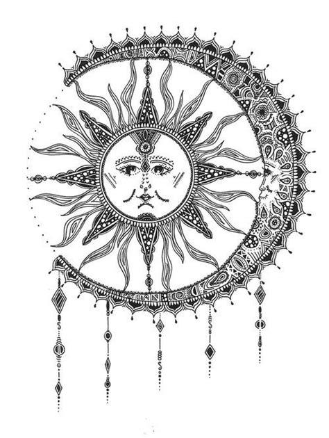 sun and moon tattoo tumblr - Szukaj w Google | We Heart It | moon | pins and needles