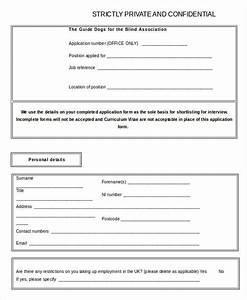 Blank Job Application Word Excel || Free & Premium Templates