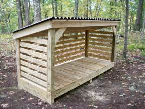photos of firewood storage shed